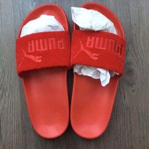 94ca26c4157 Puma Shoes - Puma Velour Barbados Cherry Slides Slippers